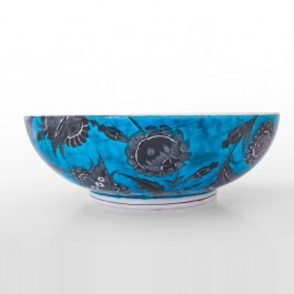 FLORAL Bowl with saz leaves and floral pattern ;11;31