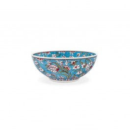 FLORAL Bowl with saz leaves and floral pattern ;;