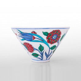 FLORAL Bowl with tulip and carnation flowers ;11;18