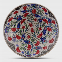 BOWL Bowl with tulip and carnation pattern ;15;42;;;