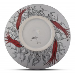 Bowl with tulip pattern ;15;34;;; - BOWL  $i