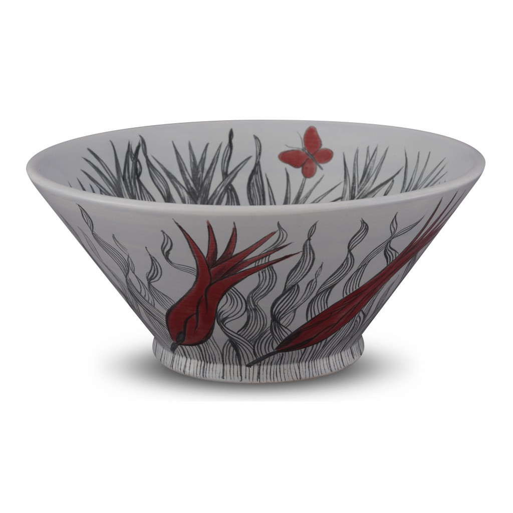 Bowl with tulip pattern ;15;34;;; - BOWL