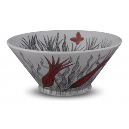 CONTEMPORARY Bowl with tulip pattern ;15;34;;;