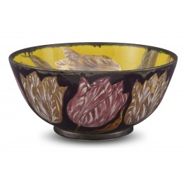 CONTEMPORARY Bowl with tulip pattern ;16;34;;;