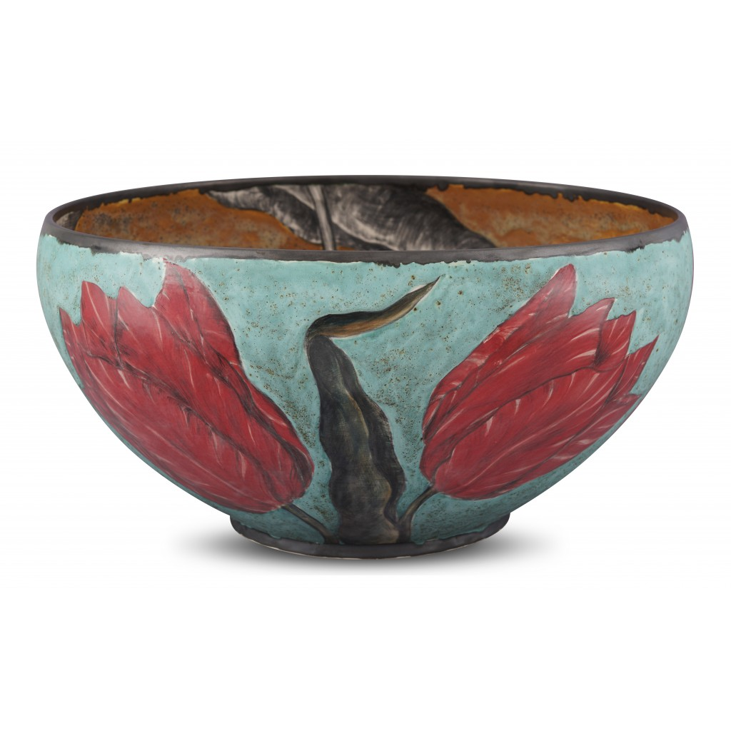 Bowl with tulip pattern ;24;46;;; - CONTEMPORARY