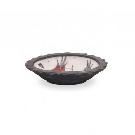 Bowl with tulips in contemporary style ;; - RAKU  $i