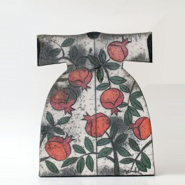 RAKU Ceramic Kaftan with Pomegranates ;45;36;;;