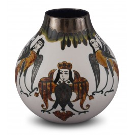 CONTEMPORARY Contemporary vase with figure ;30;26;;;
