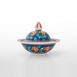 FLORAL Covered bowl with daisy pattern ;13;18;;;