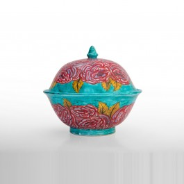 FLORAL Covered bowl with floral pattern ;20;22