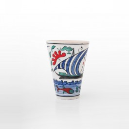 ARTIST Meliha Coşkun Cup with boat figures and fishes ;12;9