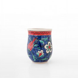 ARTIST Meliha Coşkun Cup with tulips, carnation flowers and daisies ;10;8