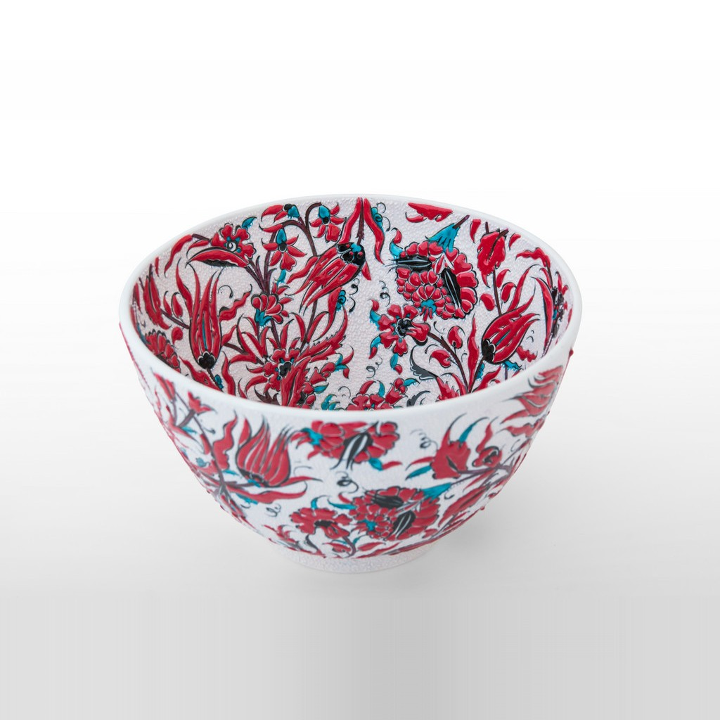 Deep bowl leaves and floral pattern ;18;30 - FLORAL