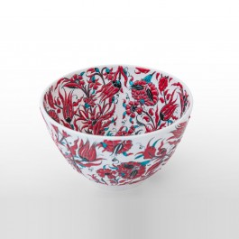 FLORAL Deep bowl leaves and floral pattern ;18;30