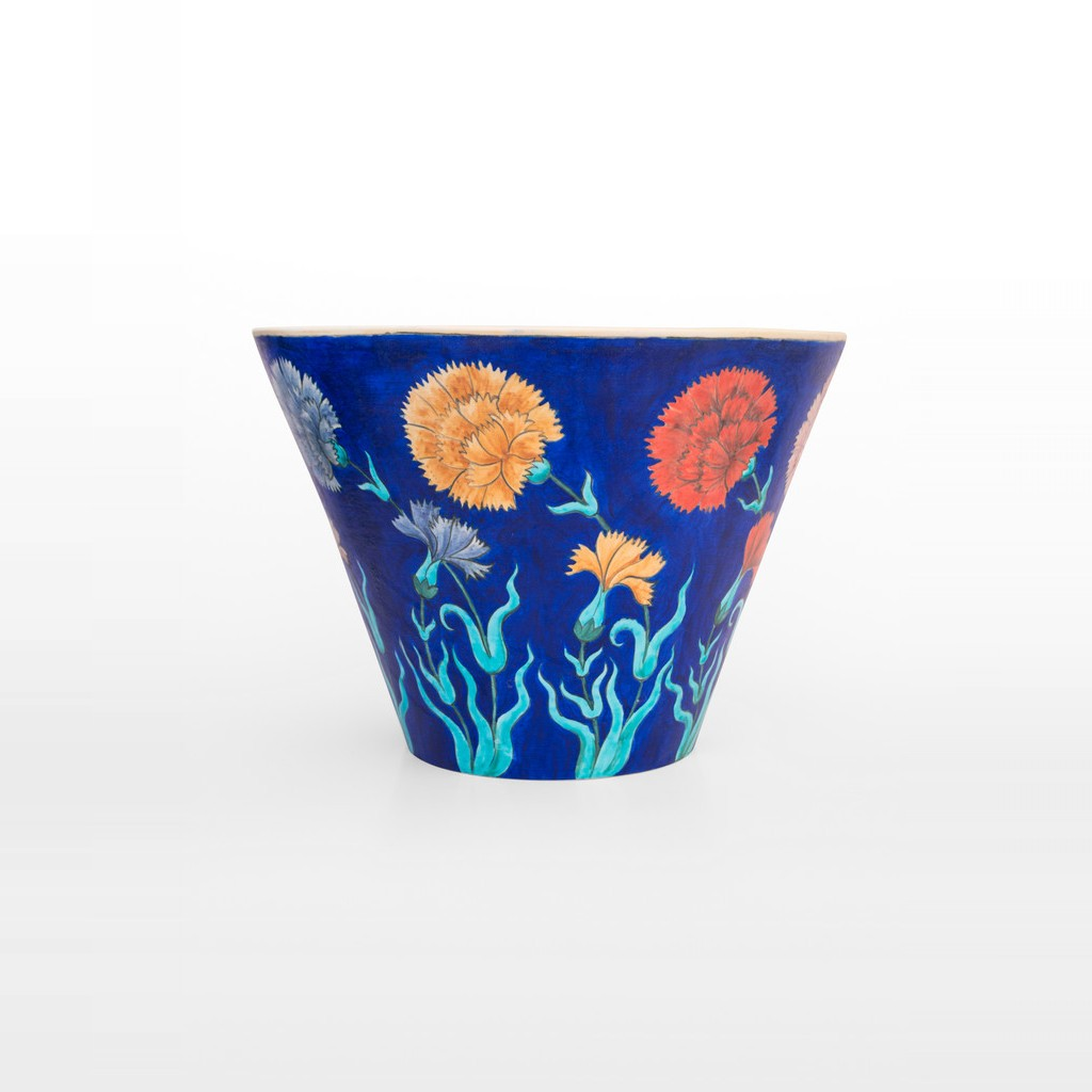 Deep bowl with flowers in contemporary style ;30;41 - BOWL