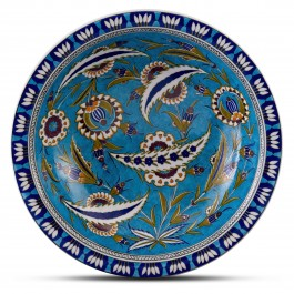 FLORAL Deep plate with floral pattern ;;40;;;