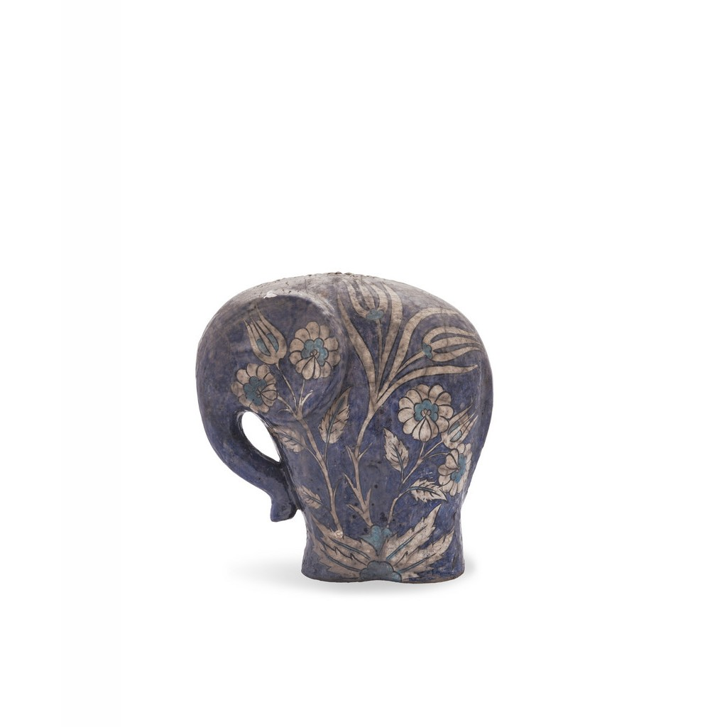 Elephant figure with floral pattern ;; - CONTEMPORARY