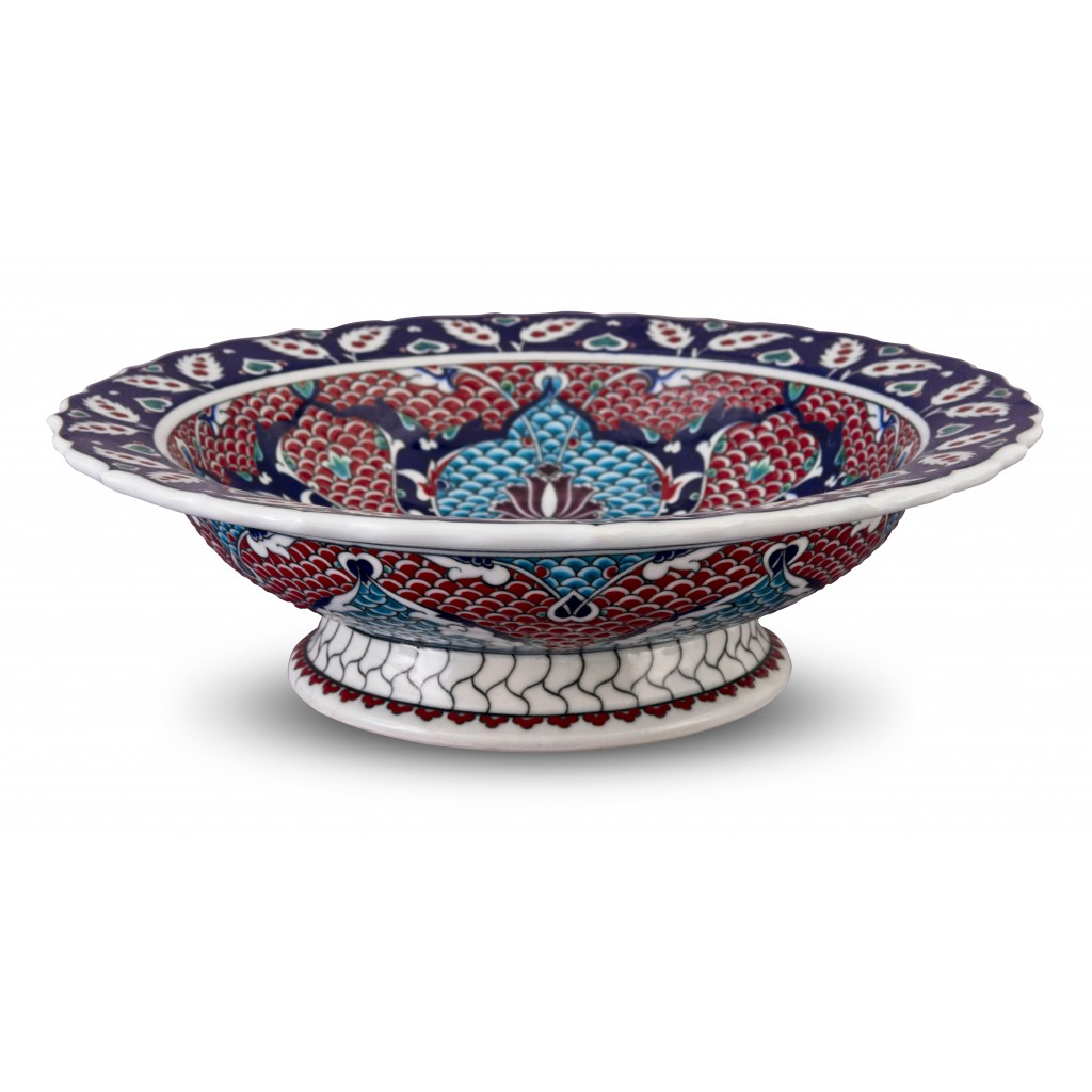 Footed bowl ;12;41;;; - FLORAL