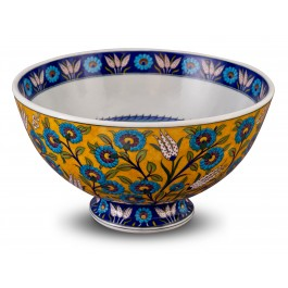 BOWL Footed bowl with floral pattern ;24;43;;;