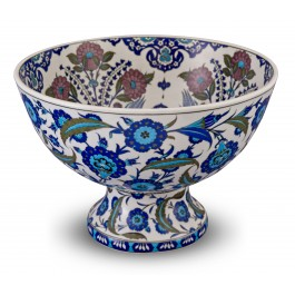BOWL Footed bowl with floral pattern ;30;43;;;