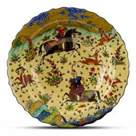 Footed bowl with miniature scene ;12;41;;; - BOWL  $i