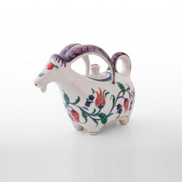 Goat figurine with tulips and saz leaves ;20;26;;; - DECORATIVE ITEM & OBJECTS  $i