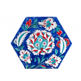 ARTIST Meliha Coşkun Hexagonal tile with hatai ;;22