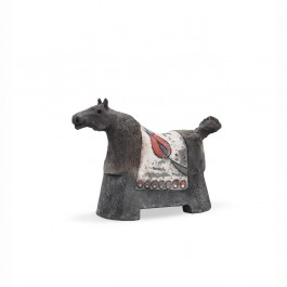 RAKU Horse figurine with tulips ;;;;;