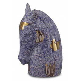 CONTEMPORARY Horse head figurine with geometrical pattern ;31;22;;;