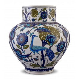 FLORAL Jar with bird and floral pattern ;38;29;;;