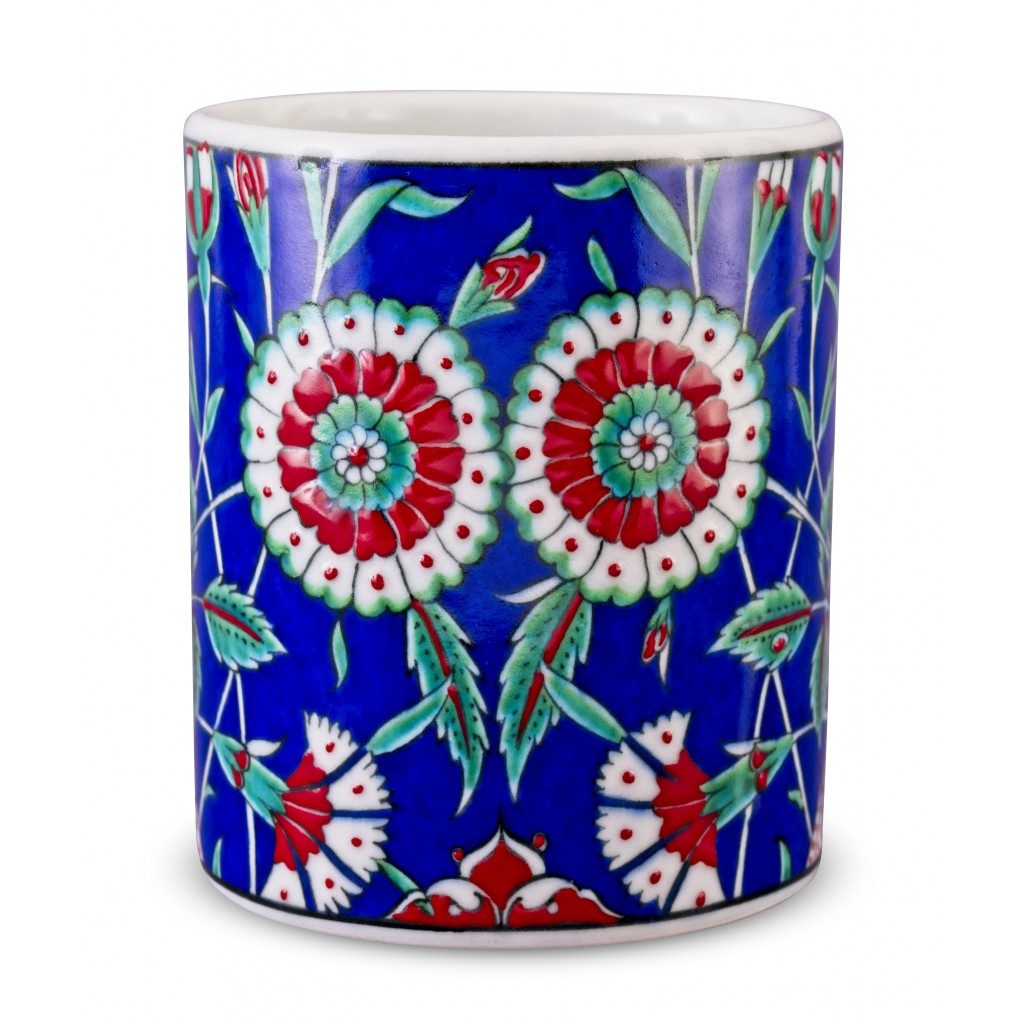 Jar with carnation pattern ;15;13;;; - ARTIST Adnan Ergüler