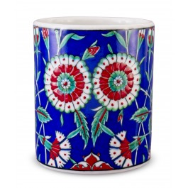 FLORAL Jar with carnation pattern ;15;13;;;