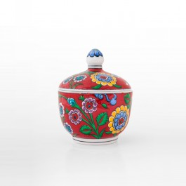 FLORAL Jar with floral pattern ;14;11