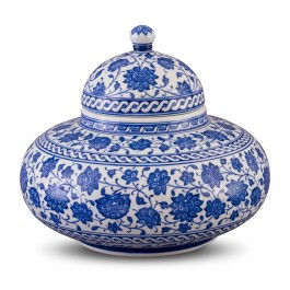 BLUE & WHITE Jar with floral pattern ;24;28;;;