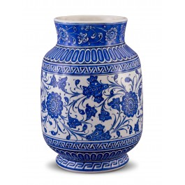 BLUE & WHITE Jar with floral pattern ;30;20;;;
