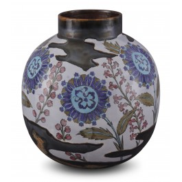 CONTEMPORARY Jar with floral pattern ;32;25;;;