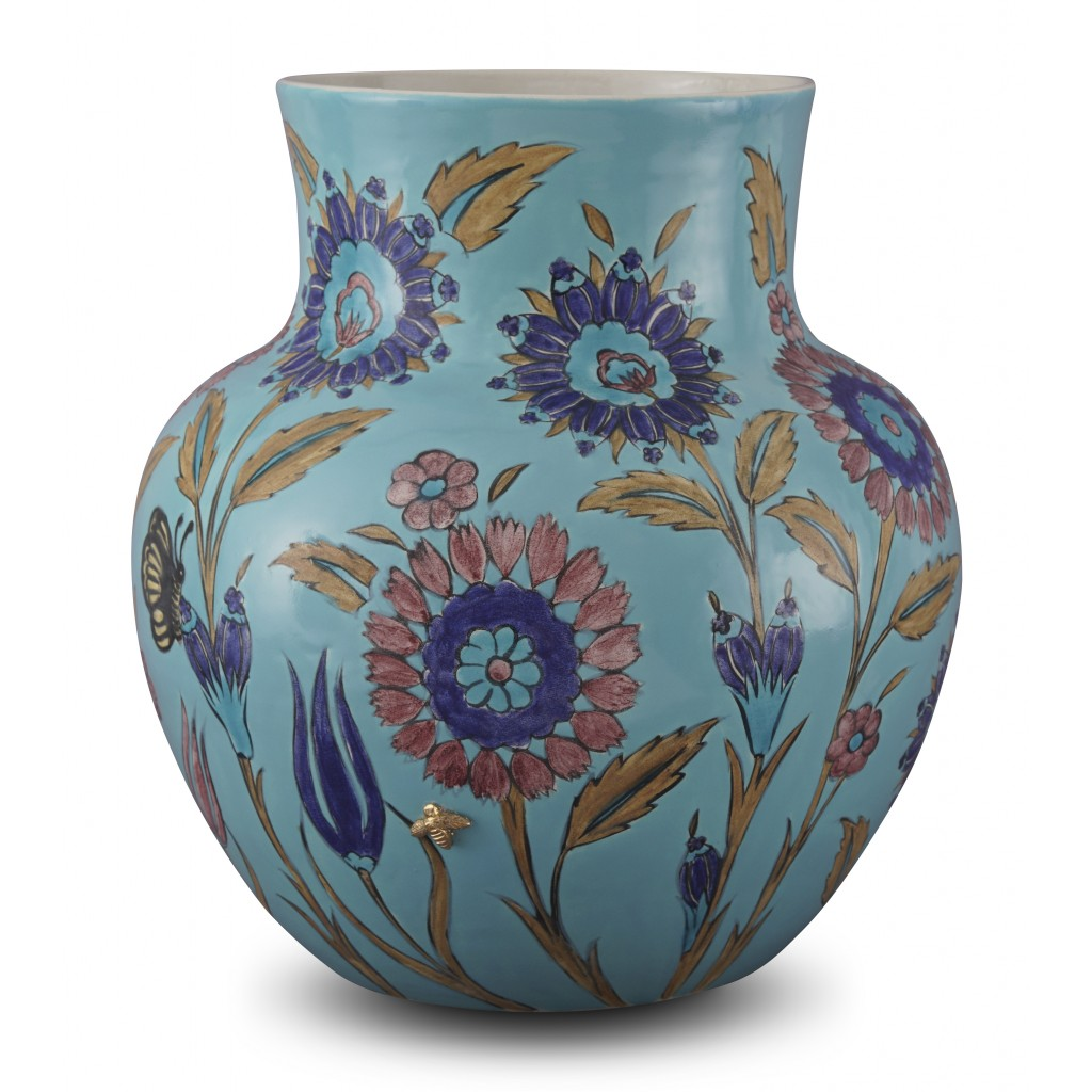 Jar with floral pattern ;33;26;;; - CONTEMPORARY