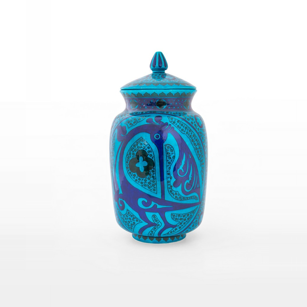 Jar with geometrical pattern and bird figures ;35;18;;; - JAR