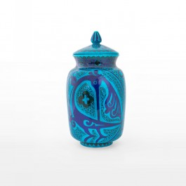 ARTIST Sıtkı II (Nida Olçar) Jar with geometrical pattern and bird figures ;35;18;;;