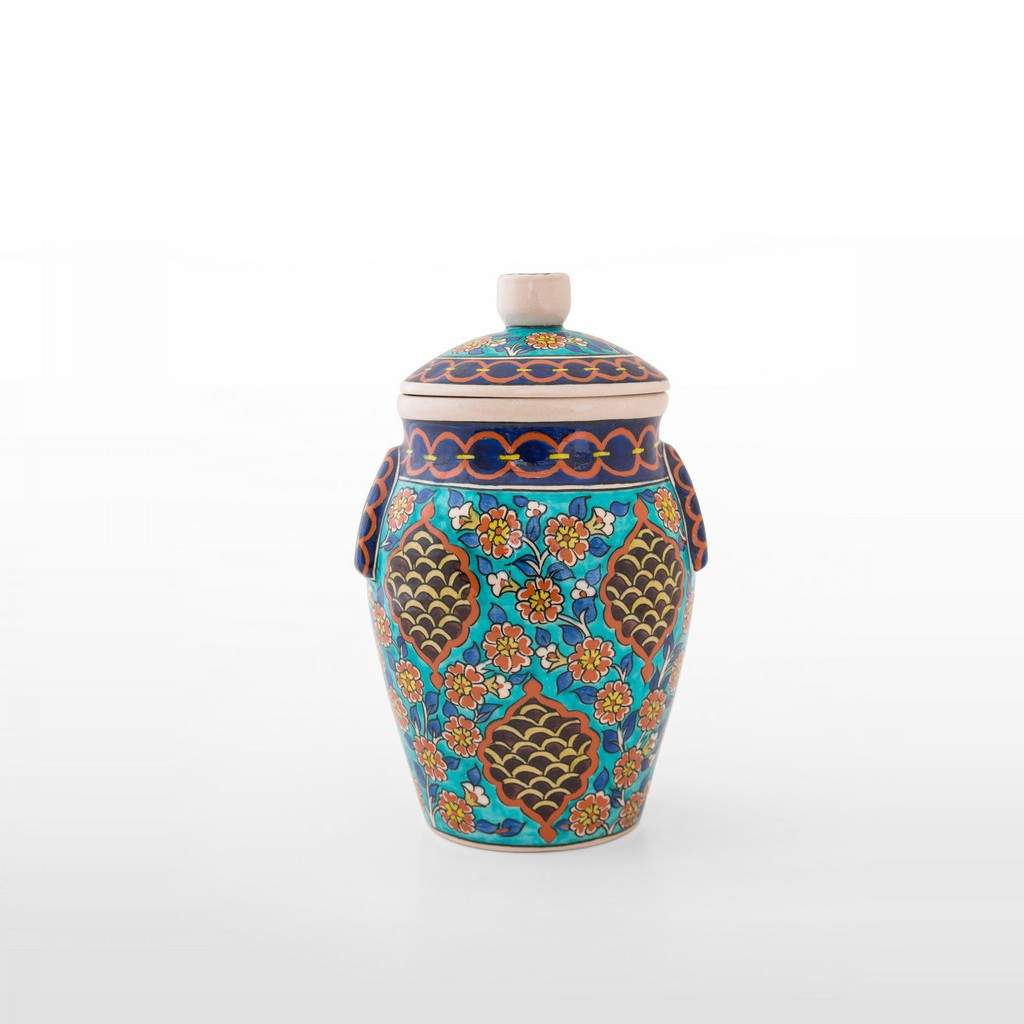 Jar with hatai figures ;28;18 - FLORAL