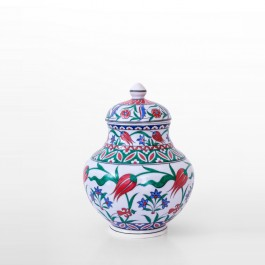 FLORAL Jar with hatai patterns ;34;24