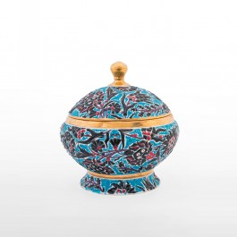 FLORAL Jar with leaves and floral pattern ;30;30