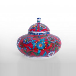 FLORAL Jar with saz leaves and floral pattern ;26;37