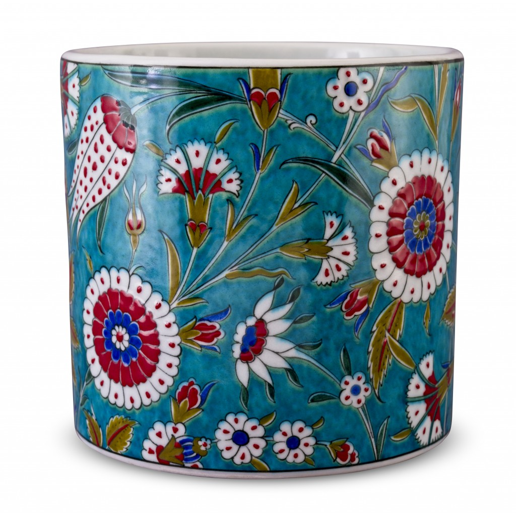 Jar with tulip and carnation patterns ;;;;; - FLORAL