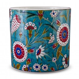 FLORAL Jar with tulip and carnation patterns ;;;;;