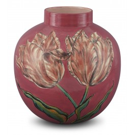 CONTEMPORARY Jar with tulip pattern ;31;26;;;