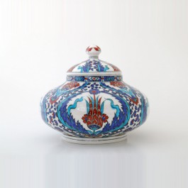 FLORAL Jar with tulips and rumi pattern ;22;27