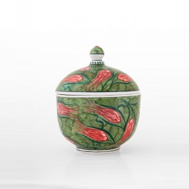 FLORAL Jar with tulips in contemporary style ;16;13