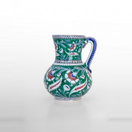 FLORAL Jug with carnation and saz leaves ;22;17