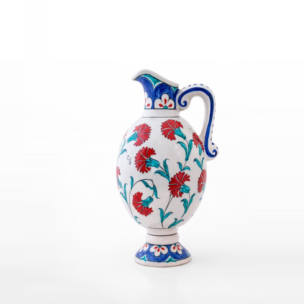 Jug with carnation flowers ;31;17 - JUG